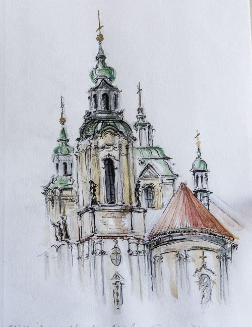 Clares Prague and Krakow Sketches